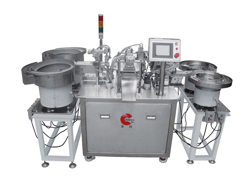 R.JG-012 latex tube, two-way automatic assembly machine